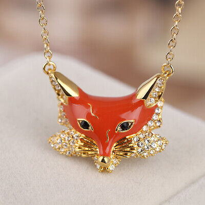 $ CDN31.02 • Buy Kate Spade Into The Woods Fox Pendant Drop Statement Necklace  W/ Gift Box