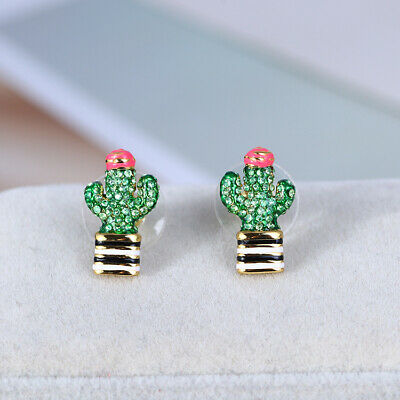 $ CDN31.88 • Buy Kate Spade Scenic Route Cactus Crystal Encrusted Earrings W/ Gift Box