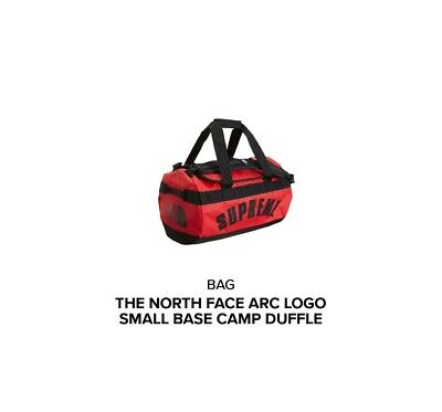 Supreme X The North Face Arc Logo Small Base Camp Duffle Bag In Red  • 255£