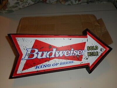 $ CDN53.63 • Buy Lighted Budweiser Sign New In Original Box Battery Operated