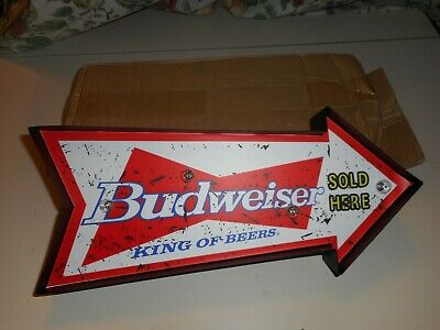 $ CDN52.73 • Buy Lighted Budweiser Sign New In Original Box Battery Operated