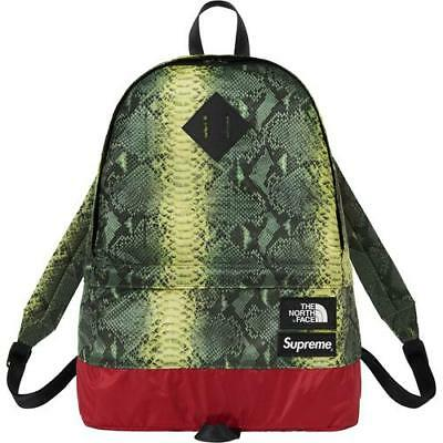 $ CDN273.71 • Buy Supreme SS18 The North Face Snakeskin Day Pack Green Backpack IN HAND (SOLD OUT)