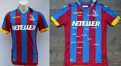 2014-15 Crystal Palace Home Shirt Squad Signed With COA & Signature Map (20126) • 75£