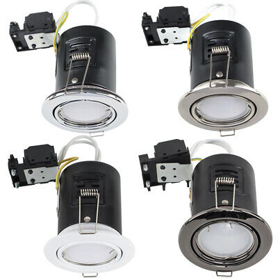 £23.99 • Buy 6 X Fire Rated Recessed LED GU10 Ceiling Downlight Spotlights Tiltable Lights
