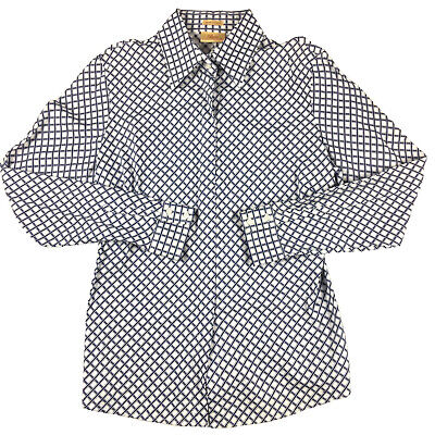 AU44.95 • Buy RM Williams Women's Long Sleeve Blue And White Button Up Semi Fitted Shirt Sz 14