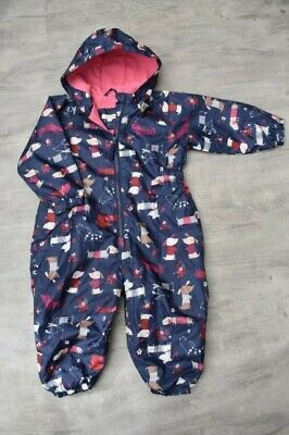 Baby Girls Debenhams Blue Zoo Age 12-18 Months Splash Suit Puddle Suit With Dogs • 5£