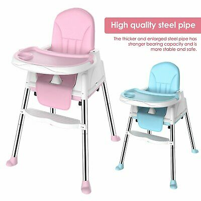 Baby Highchair Infant High Feeding Seat 3 In 1 Toddler Table Chair New • 38.99£
