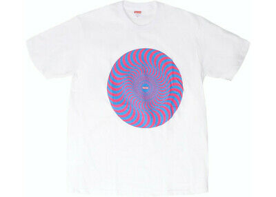 $ CDN118.64 • Buy New Supreme Spitfire Classic Swirl T-Shirt Large White Tee SS18 Sealed In Bag!