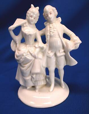 $ CDN32.94 • Buy Antique White Porcelain Dresden 18th Century Dressed Courting Couple Figurine