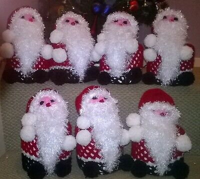 Santa Toilet Roll Cover (made To Order) Hand Knitted • 6.50£
