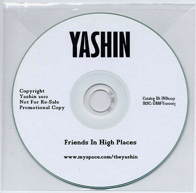 YASHIN Friends In High Places 2010 UK 1-trk Promo Test CD • 2.50£