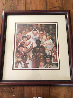"$ CDN53.32 • Buy Norman Rockwell Framed Matted Print Of  Do Unto Others"" 19"" X 20"""