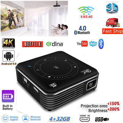 AU369.99 • Buy 4000 Lumens Android 3D DLP Home Theater Projector 4K HD 1080P WIFI HDMI USB 32GB