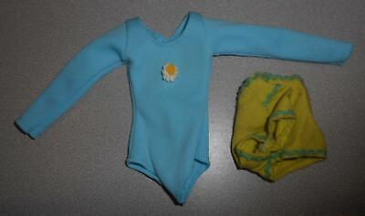 $14.99 • Buy 1974 KENNER DUSTY DOLL CLOTHES BLUE LEOTARD W/ YELLOW FLOWER & GREEN SHORTS