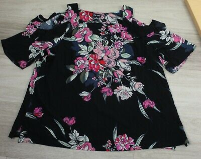 AU13.50 • Buy Adorable CITY CHIC Frilled Floral Drop Sleeve Top - Size M (18)