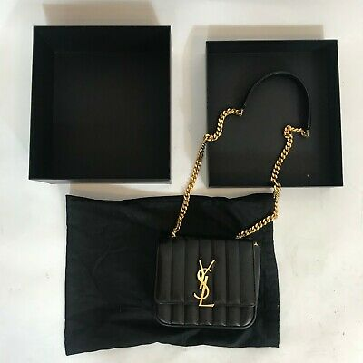 AU2760 • Buy YSL Saint Laurent Vicky Bag Leather Black