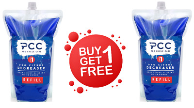 Pro Cycle Care 1.5 Litre PRO CITRUS Refill Pouch Bike Degreaser PCC13R & Patches • 12.99£