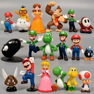 18pcs Super Mario Bros Action Figure Doll Figurine Toy Model Collection Gift  • 9.99£