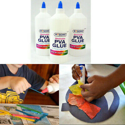 PVA Glue Bottle 500ml Washable Safe Ideal For School Craft Home Office Non Toxic • 3.87£
