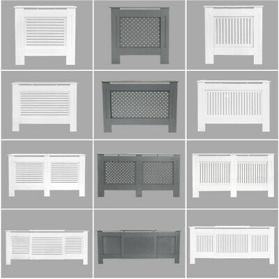 Radiator Cover White Grey Modern Traditional Wood Grill Shelf Cabinet Furniture • 43.95£