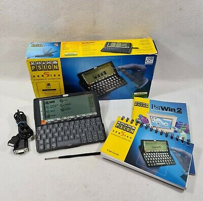 Psion Series 5 PDA 8mb In Mint Condition Boxed, Printer Cable, Manuals. • 30£