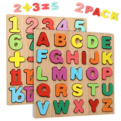 Wgde Toy Wooden Puzzles For 2 3 4 Year Old Kids Toddlers, Toys Gifts For 2 3 4 2 • 11.11£