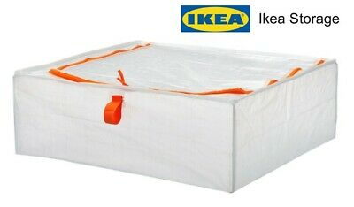 Storage Bags X 2 Large Transparent Plastic Zipped Under Bed Storage By IKEA • 9.99£