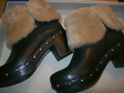Ugg  Wooden Clog Studded Boot Size 3.5 UK S/N 1013054 • 75£