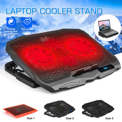AU28.49 • Buy LCD Display Laptop Cooling Fan Notebook Cooler Stand 6-Speed Adjustable USB Fan