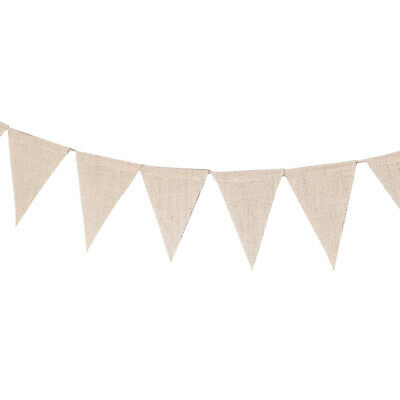 3 Meter Burlap Banner DIY Painted Decoration For Holidays,Camping,Wedding And • 4.79£