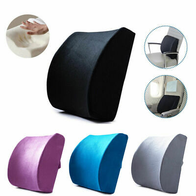 AU15.90 • Buy Memory Foam Lumbar Back Pillow Support Back Cushion Home Office Car Seat Chair