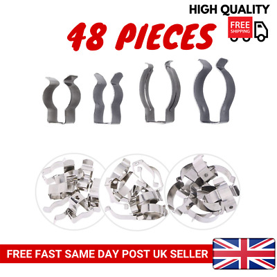 £6.99 • Buy 48 PCS Heavy Duty Assorted Tool Spring Terry Clips Storage Shed Garage 4 Sizes