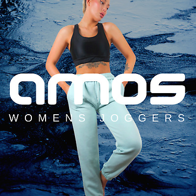 £7.99 • Buy AMOS Ladies Womens Joggers Sweatpants Cuffed Tracksuit Bottoms Oversized 6-18