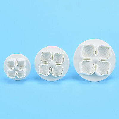 3X Hydrangea Fondant Cake Decorating Sugarcrafts Plungers Cutter Flower MoldsTS • 3.14£