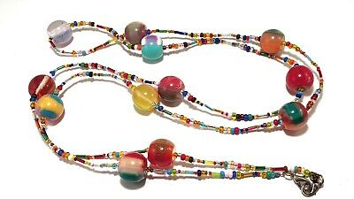 Jackie Brazil Original Marble Effect Multi Colour Resin Bead Necklace By SOBRAL • 39.99£