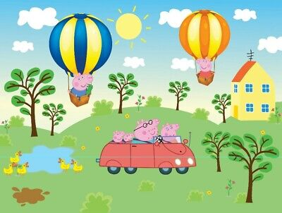 GEORGE PIG BACKDROP, PEPPA PIG For Children/kids Birthday Parties, 4x3 Metres. • 200£
