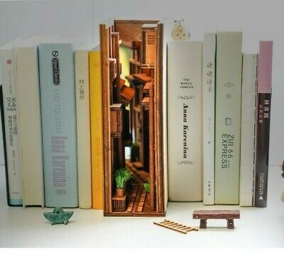 DIY Japanese Street Book Nook - Alley Shelf Insert - Bookcase With Light  • 71.29£
