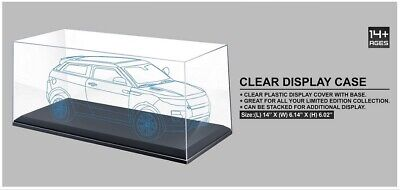 £21.22 • Buy 1:18 Scale Clear Plastic Display Cover Case With Black Base For Model Cars