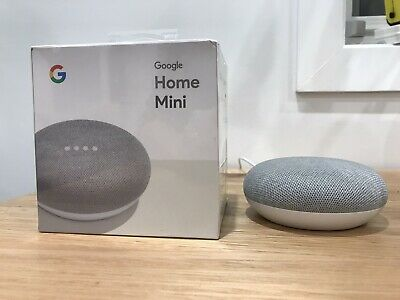 AU45 • Buy Google Home Mini Smart Assistant - Chalk Brand New