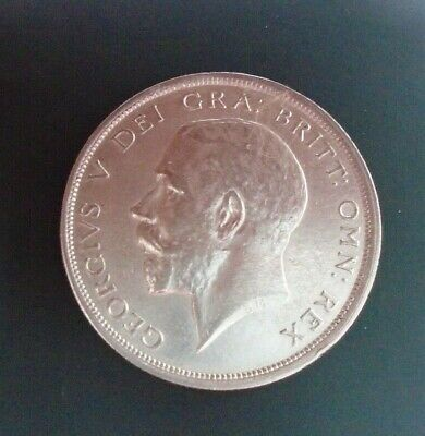 1920 George V Bare Head First Coinage Half 1/2 Crown Spink 4021 Crowned Shield B • 99.99£