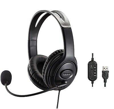 USB Headset With Noise Canceling Mic And Volume Control For Skype, Zoom, Teams • 23.99£