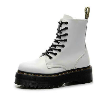Womens Winter Platform Chunky Army Military Flat Biker Ankle Boots Goth Punk  • 26.99£
