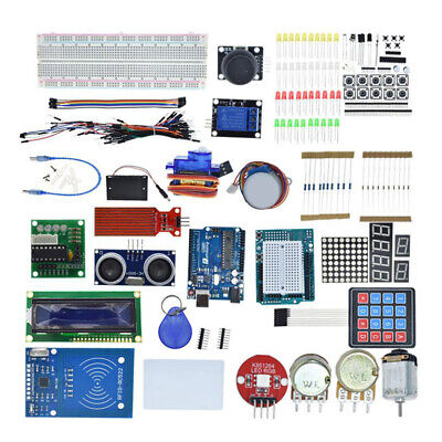 Electronics Kit 830 Point Breadboard 1602 LCD Jumper Wire For UNO R3 Raspberry • 26.43£