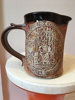 """£8 • Buy Quantock Pottery Design Medieval Style Jug 5.5"""" Tall"""