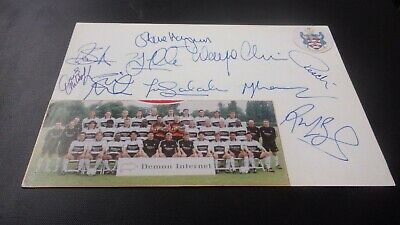 Fulham   Signed  Team  Picture 8x6 Inches  • 8.99£