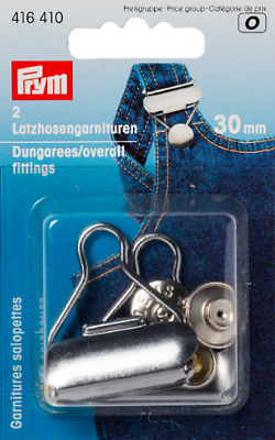 £3.50 • Buy Dungaree Clips 30mm Silver