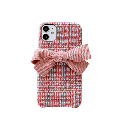 AU7.53 • Buy Pink Girls Cases For IPhone 11 Pro Max X XR XS Max 8 7 Plus Plush Bow Back Cover