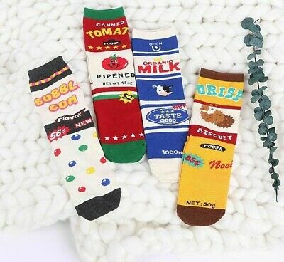 £7.16 • Buy Ankle-high Printing Design Socks For Lady Spandex Novelty Style Foot Warmer Wear