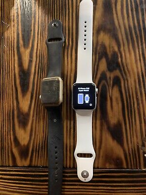 $ CDN234.60 • Buy Apple Watches White One Series 2 And Black One Series 1.