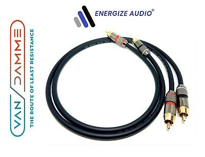 £39.99 • Buy Pair Van Damme Custom RCA Cables Phono - Pro Audiophile Silver Plated Pure OFC